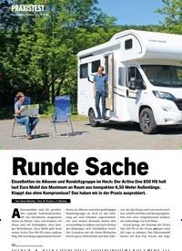 Titelbild der Ausgabe 8/2020 von PRAXISTEST: Eura Mobil Activa One 650 HS: Runde Sache. Zeitschriften als Abo oder epaper bei United Kiosk online kaufen.