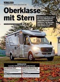 Titelbild der Ausgabe 2/2021 von VERGLEICH: Eura Mobil Contura 766 EF vs. Hymer B-ML T 780: Oberklasse mit Stern. Zeitschriften als Abo oder epaper bei United Kiosk online kaufen.