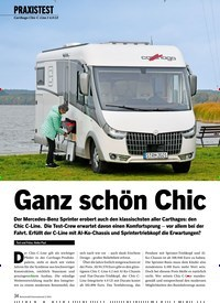 Titelbild der Ausgabe 2/2021 von PRAXISTEST: Carthago Chic C-Line I 4.9 LE: Ganz schön Chic. Zeitschriften als Abo oder epaper bei United Kiosk online kaufen.