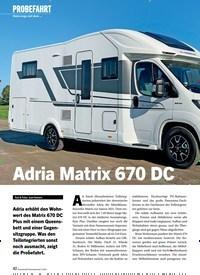Titelbild der Ausgabe 2/2021 von PROBEFAHRT: Unterwegs mit dem …: Adria Matrix 670 DC. Zeitschriften als Abo oder epaper bei United Kiosk online kaufen.