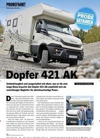 Titelbild der Ausgabe 2/2021 von PROBEFAHRT: Unterwegs mit dem …: Dopfer 421 AK. Zeitschriften als Abo oder epaper bei United Kiosk online kaufen.