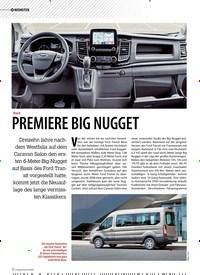 Titelbild der Ausgabe 5/2019 von NEUHEITEN: Ford: PREMIERE BIG NUGGET. Zeitschriften als Abo oder epaper bei United Kiosk online kaufen.