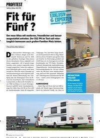 Titelbild der Ausgabe 1/2020 von Adria Altea 552 PK: Fit für Fünf?. Zeitschriften als Abo oder epaper bei United Kiosk online kaufen.