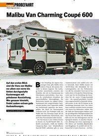 Titelbild der Ausgabe 3/2020 von PROBEFAHRT: Unterwegs mit dem …: Malibu Van Charming Coupé 600. Zeitschriften als Abo oder epaper bei United Kiosk online kaufen.
