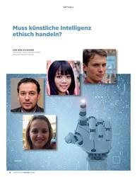 Titelbild der Ausgabe 4/2019 von Muss künstliche Intelligenz ethisch handeln?. Zeitschriften als Abo oder epaper bei United Kiosk online kaufen.