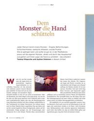 Titelbild der Ausgabe 4/2019 von Dem Monster die Hand schütteln. Zeitschriften als Abo oder epaper bei United Kiosk online kaufen.