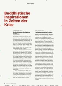 Titelbild der Ausgabe 3/2020 von Buddhistische Inspirationen in Zeiten der Krise. Zeitschriften als Abo oder epaper bei United Kiosk online kaufen.
