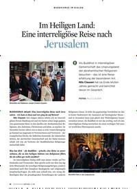 Titelbild der Ausgabe 3/2020 von Im Heiligen Land: Eine interreligiöse Reise nach Jerusalem. Zeitschriften als Abo oder epaper bei United Kiosk online kaufen.