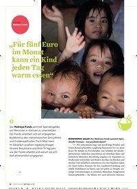 """Titelbild der Ausgabe 3/2019 von Porträt Maireya-Fonds: """"Für fünf Euro im Monat kann ein Kind jeden Tag warm essen"""". Zeitschriften als Abo oder epaper bei United Kiosk online kaufen."""