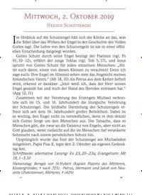 Titelbild der Ausgabe 10/2019 von MITTWOCH, 2. OKTOBER 2019: HEILIGE SCHUTZENGEL. Zeitschriften als Abo oder epaper bei United Kiosk online kaufen.