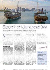 Titelbild der Ausgabe 3/2019 von Stopover in der Kulturhauptstadt Qatar. Zeitschriften als Abo oder epaper bei United Kiosk online kaufen.