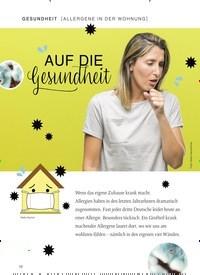 Titelbild der Ausgabe 1/2019 von [ALLERGENE IN DER WOHNUNG]: AUF DIE gesundheit. Zeitschriften als Abo oder epaper bei United Kiosk online kaufen.