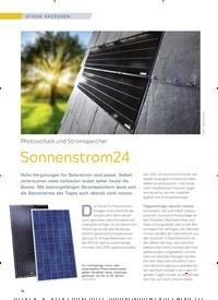 Titelbild der Ausgabe 3/2018 von Photovoltaik und Stromspeicher: Sonnenstrom24. Zeitschriften als Abo oder epaper bei United Kiosk online kaufen.