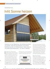Titelbild der Ausgabe 3/2018 von Solarthermie: Mit Sonne heizen. Zeitschriften als Abo oder epaper bei United Kiosk online kaufen.