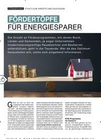 Titelbild der Ausgabe 3/2019 von FÖRDERTÖPFE FÜR ENERGIESPARER. Zeitschriften als Abo oder epaper bei United Kiosk online kaufen.