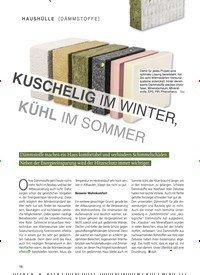 Titelbild der Ausgabe 2/2019 von DÄMMSTOFFE: KUSCHELIG IM WINTER, KÜHL IM SOMMER. Zeitschriften als Abo oder epaper bei United Kiosk online kaufen.