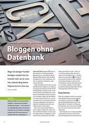 Titelbild der Ausgabe 9/2019 von Flatpress macht das Bloggen einfach: Bloggen ohne Datenbank. Zeitschriften als Abo oder epaper bei United Kiosk online kaufen.