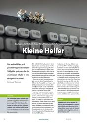 Titelbild der Ausgabe 9/2019 von TiddlyWiki: Eierlegende Wollmilchsau für strukturierte Informationsablage: Kleine Helfer. Zeitschriften als Abo oder epaper bei United Kiosk online kaufen.
