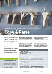 Titelbild der Ausgabe 10/2019 von Konfigurationen und Pakete über eigene Metapakete verwalten: Copy & Paste. Zeitschriften als Abo oder epaper bei United Kiosk online kaufen.