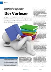 Titelbild der Ausgabe 10/2019 von Foliate präsentiert sich als moderner E-Book-Reader mit Vorlesefunktion: Der Vorleser. Zeitschriften als Abo oder epaper bei United Kiosk online kaufen.
