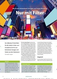 Titelbild der Ausgabe 11/2019 von Mit Pi-hole netzwerkweit Anzeigen und Tracker blockieren Nur mit Filter. Zeitschriften als Abo oder epaper bei United Kiosk online kaufen.