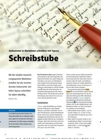 Titelbild der Ausgabe 11/2019 von Dokumente in Markdown schreiben mit Typora Schreibstube. Zeitschriften als Abo oder epaper bei United Kiosk online kaufen.