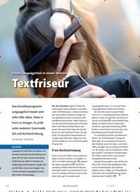 Titelbild der Ausgabe 11/2019 von Freies LanguageTool in neuer Version Textfriseur. Zeitschriften als Abo oder epaper bei United Kiosk online kaufen.