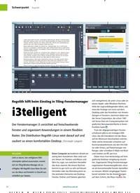 Titelbild der Ausgabe 12/2019 von Regolith: Regolith hilft beim Einstieg in Tiling-Fenstermanager: i3telligent. Zeitschriften als Abo oder epaper bei United Kiosk online kaufen.