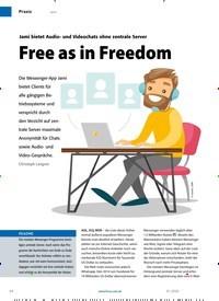 Titelbild der Ausgabe 1/2020 von Free as in Freedom. Zeitschriften als Abo oder epaper bei United Kiosk online kaufen.
