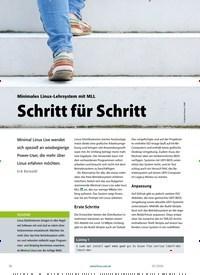 Titelbild der Ausgabe 3/2020 von Minimales Linux-Lehrsystem mit MLL: Schritt für Schritt. Zeitschriften als Abo oder epaper bei United Kiosk online kaufen.