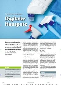 Titelbild der Ausgabe 11/2020 von Systemwartung mit Stacer: Digitaler Hausputz. Zeitschriften als Abo oder epaper bei United Kiosk online kaufen.