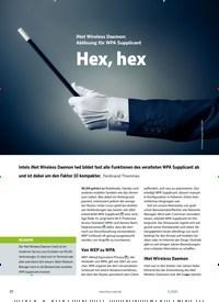 Titelbild der Ausgabe 11/2020 von iNet Wireless Daemon: Ablösung für WPA Supplicant: Hex, hex. Zeitschriften als Abo oder epaper bei United Kiosk online kaufen.