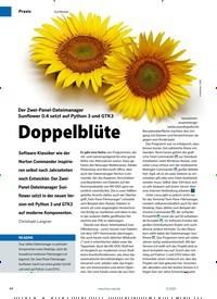 Titelbild der Ausgabe 11/2020 von Sunflower: Doppelblüte. Zeitschriften als Abo oder epaper bei United Kiosk online kaufen.
