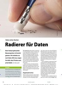 Titelbild der Ausgabe 1/2021 von Daten löschen: Daten sicher löschen: Radierer für Daten. Zeitschriften als Abo oder epaper bei United Kiosk online kaufen.