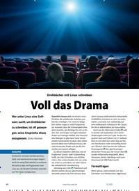 Titelbild der Ausgabe 1/2021 von Screenwriting: Drehbücher mit Linux schreiben: Voll das Drama. Zeitschriften als Abo oder epaper bei United Kiosk online kaufen.