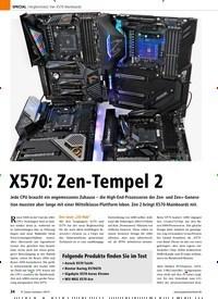 Titelbild der Ausgabe 9/2019 von Vergleichstest: Vier X570-Mainboards: X570: Zen-Tempel 2. Zeitschriften als Abo oder epaper bei United Kiosk online kaufen.