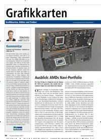 Titelbild der Ausgabe 9/2019 von Ausblick: AMDs Navi-Portfolio. Zeitschriften als Abo oder epaper bei United Kiosk online kaufen.