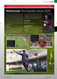 Titelbild der Ausgabe 12/2019 von DVD-Highlights: Vollversion: Pro Evolution Soccer 2019. Zeitschriften als Abo oder epaper bei United Kiosk online kaufen.