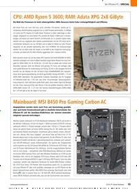 Titelbild der Ausgabe 12/2019 von CPU: AMD Ryzen 5 3600; RAM: Adata XPG 2x8 GiByte. Zeitschriften als Abo oder epaper bei United Kiosk online kaufen.