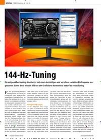 Titelbild der Ausgabe 1/2020 von WQHD-Gaming ab 144 Hz: 144-Hz-Tuning. Zeitschriften als Abo oder epaper bei United Kiosk online kaufen.