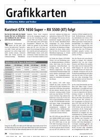 Titelbild der Ausgabe 1/2020 von Startseite: Kurztest GTX 1650 Super – RX 5500 (XT) folgt. Zeitschriften als Abo oder epaper bei United Kiosk online kaufen.