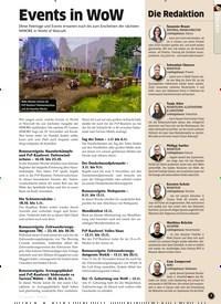 Titelbild der Ausgabe 11/2019 von Events in WoW. Zeitschriften als Abo oder epaper bei United Kiosk online kaufen.