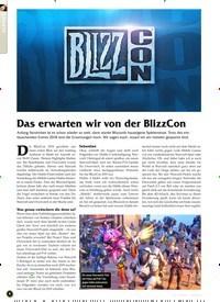 Titelbild der Ausgabe 11/2019 von Das erwarten wir von der BlizzCon. Zeitschriften als Abo oder epaper bei United Kiosk online kaufen.