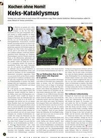 Titelbild der Ausgabe 12/2019 von Kochen ohne Nomi!: Keks-Kataklysmus. Zeitschriften als Abo oder epaper bei United Kiosk online kaufen.