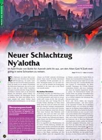 Titelbild der Ausgabe 1/2020 von Neuer Schlachtzug Ny'alotha. Zeitschriften als Abo oder epaper bei United Kiosk online kaufen.