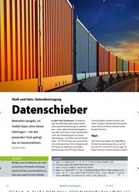Titelbild der Ausgabe 2/2019 von Shell und Netz: Datenübertragung: Datenschieber. Zeitschriften als Abo oder epaper bei United Kiosk online kaufen.