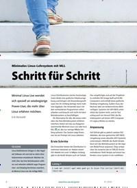 Titelbild der Ausgabe 1/2020 von Minimales Linux-Lehrsystem mit MLL: Schritt für Schritt. Zeitschriften als Abo oder epaper bei United Kiosk online kaufen.
