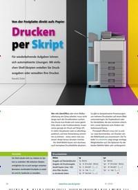 Titelbild der Ausgabe 1/2020 von Von der Festplatte direkt aufs Papier: Drucken per Skript. Zeitschriften als Abo oder epaper bei United Kiosk online kaufen.