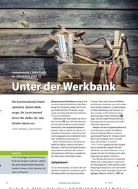 Titelbild der Ausgabe 1/2020 von Unbekannte Linux-Tools im Überblick (Teil 2): Unter der Werkbank. Zeitschriften als Abo oder epaper bei United Kiosk online kaufen.