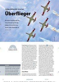 Titelbild der Ausgabe 4/2020 von Debian-Derivat MX 19 im Test Überflieger. Zeitschriften als Abo oder epaper bei United Kiosk online kaufen.